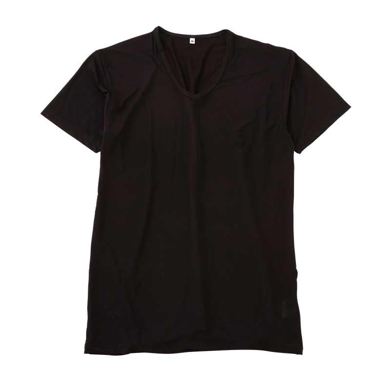 〈AN COOL〉半袖V首シャツ(接触冷感)