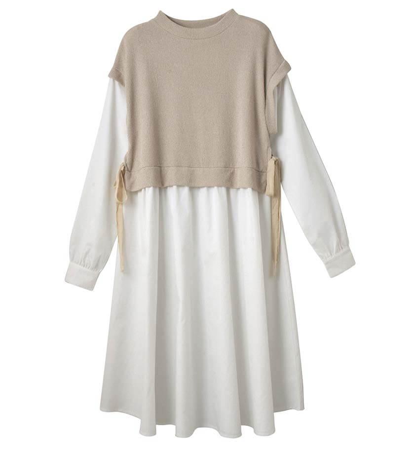 〈yururiya〉ウエストタックドルマンTシャツ